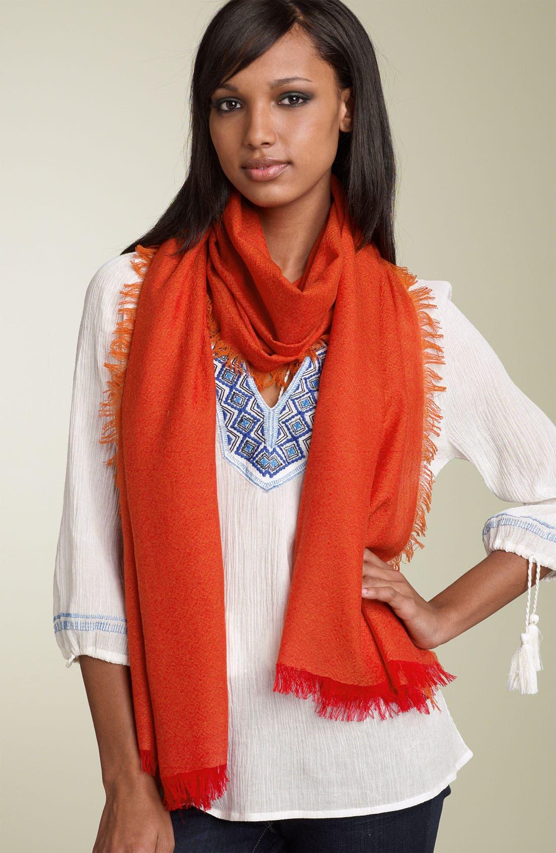 ,                             'Eyelash' Colorblock Cashmere Wrap,                             Main thumbnail 77, color,                             601