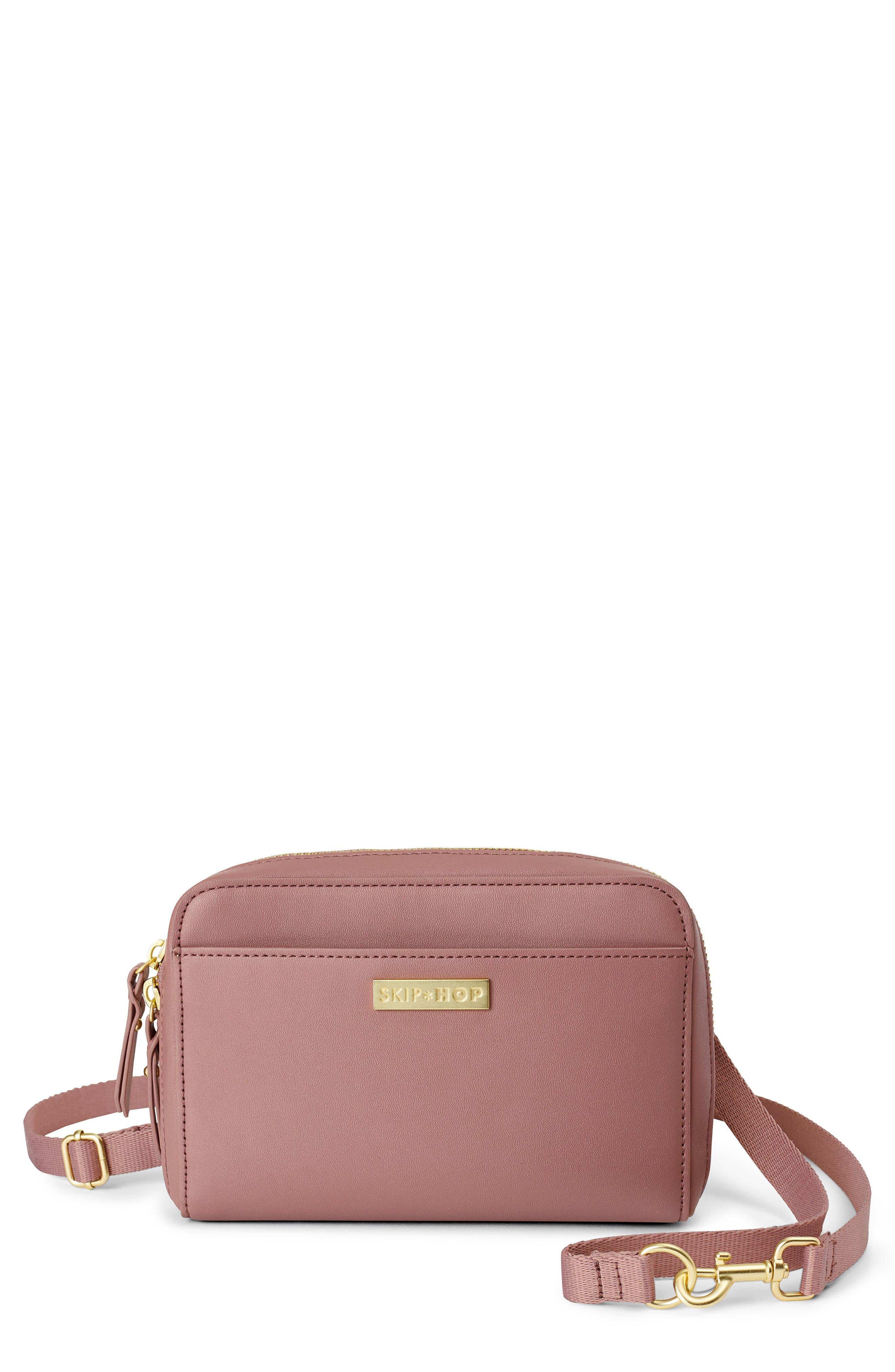 Infant Skip Hop Greenwich Convertible Diaper Belt Bag  Pink