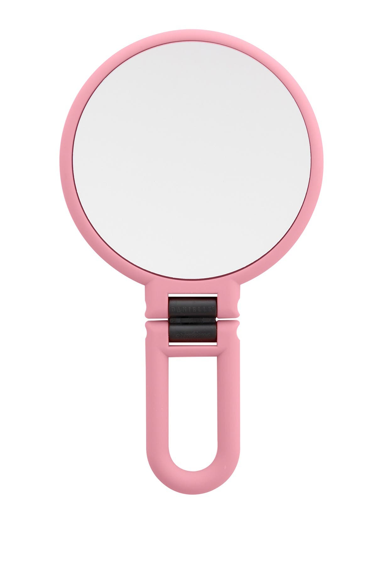 UPPER CANADA SOAPS Danielle Soft Touch Hand Held Foldable Mirror - Blush Pink