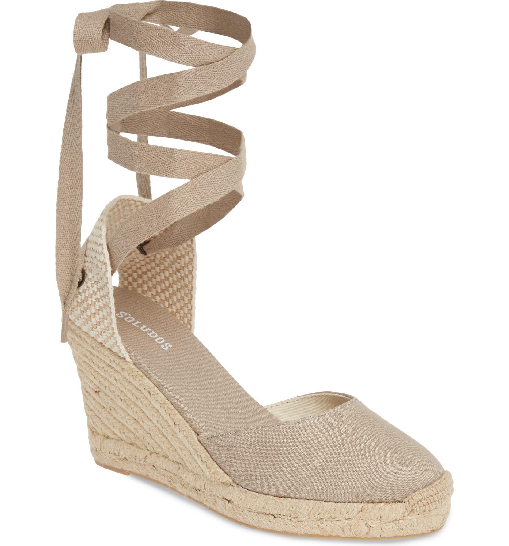 e44a96f672e Wedge Lace-Up Espadrille Sandal