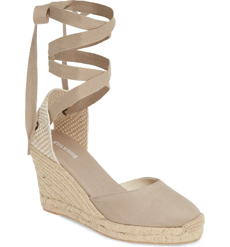 Wedge Lace Up Espadrille Sandal by Soludos