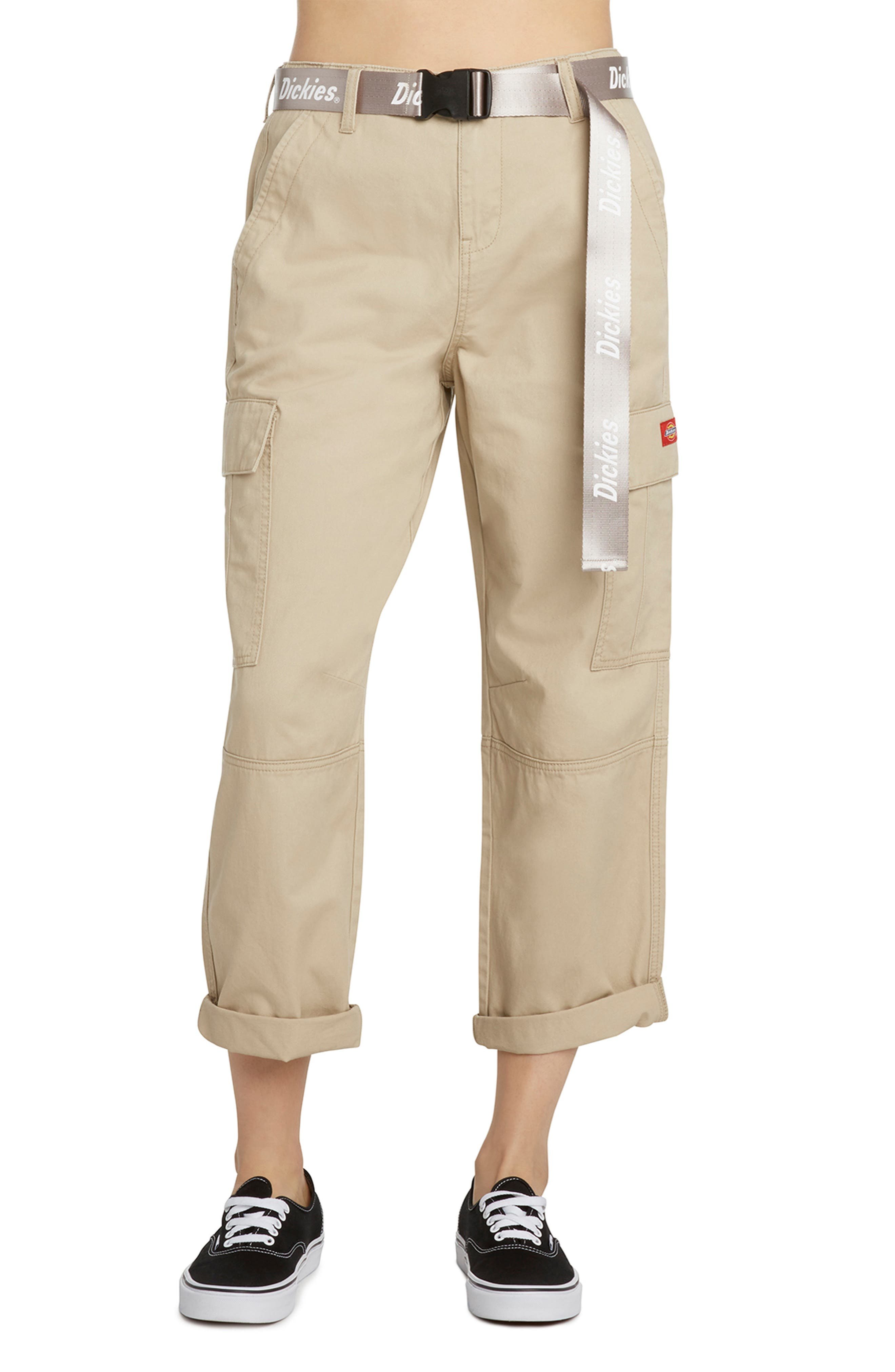 Belted Crop Utility Cargo Pants