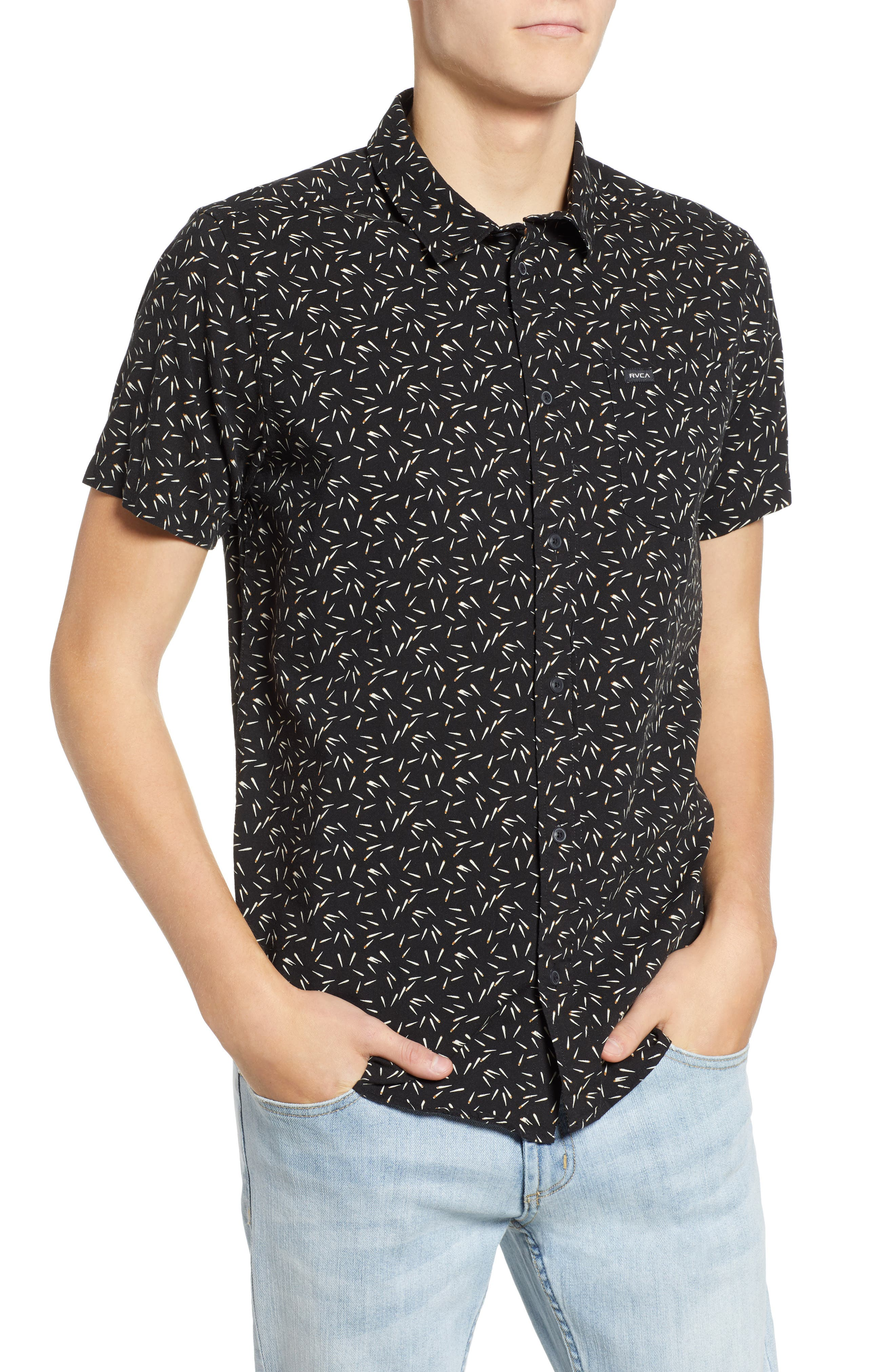 Pins & Needles Slim Fit Woven Shirt, Main, color, 020