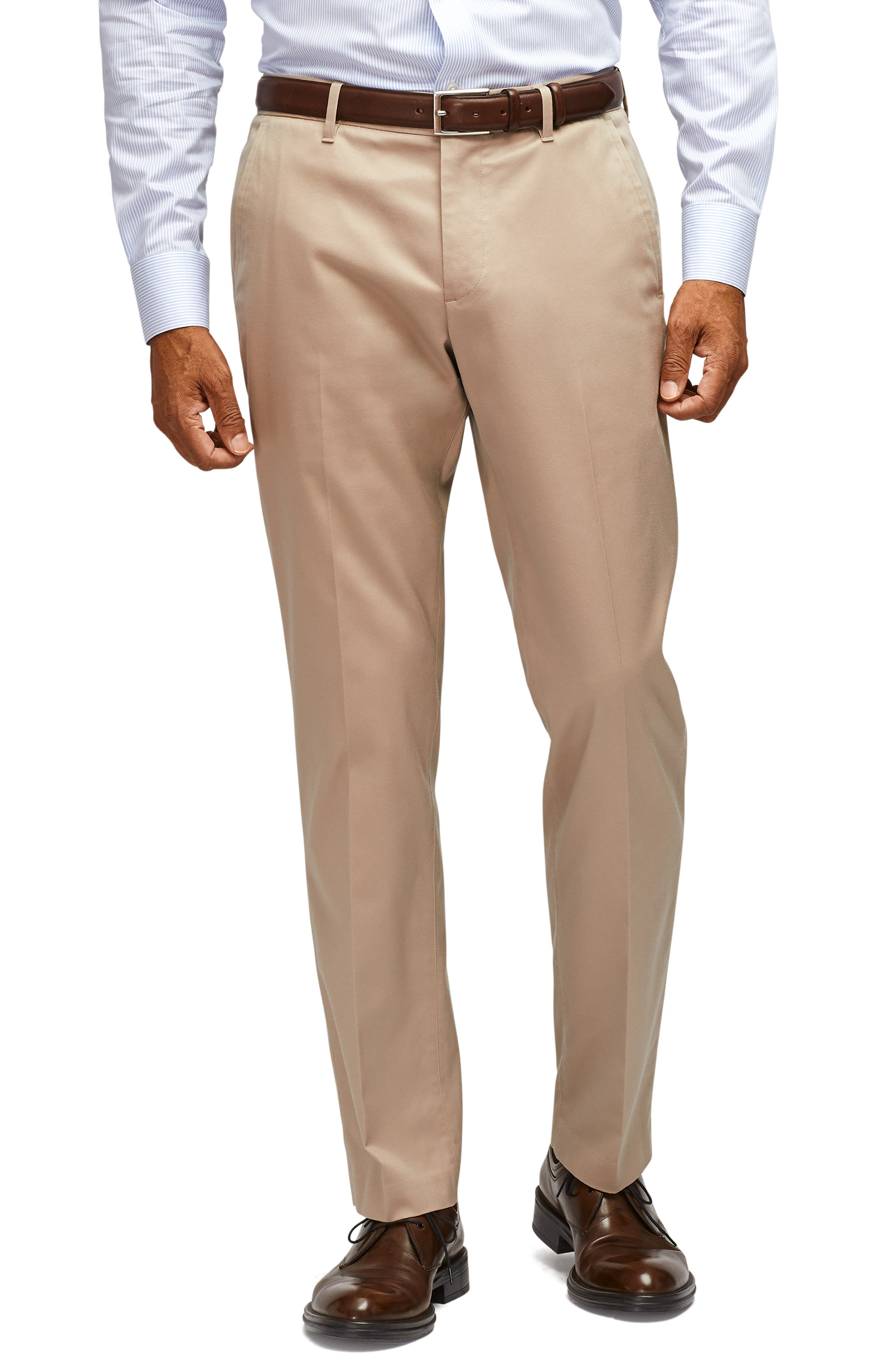 A sharp look for any day of the week, these flat-front pants are made from soft, easy-care stretch fabric and cut for a trim (but not tight) fit. Style Name: Bonobos Stretch Weekday Warrior Slim Fit Dress Pants. Style Number: 5647316 7. Available in stores.