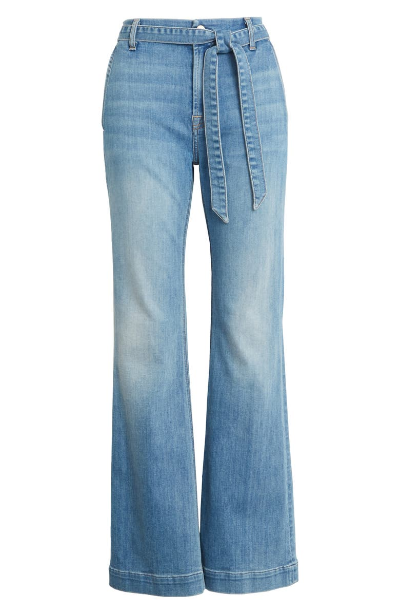 JEN7 BY 7 FOR ALL MANKIND Belted Flare Leg Jeans, Main, color, LA QUINTA
