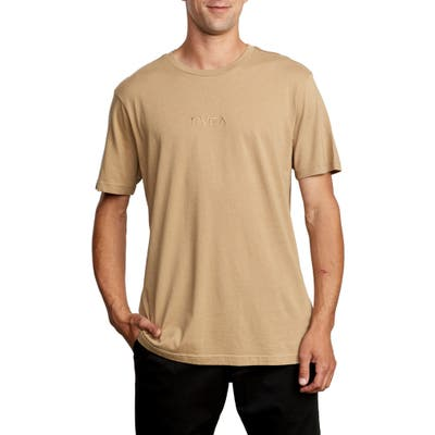 Rvca Small Embroidered Logo T-Shirt, Brown