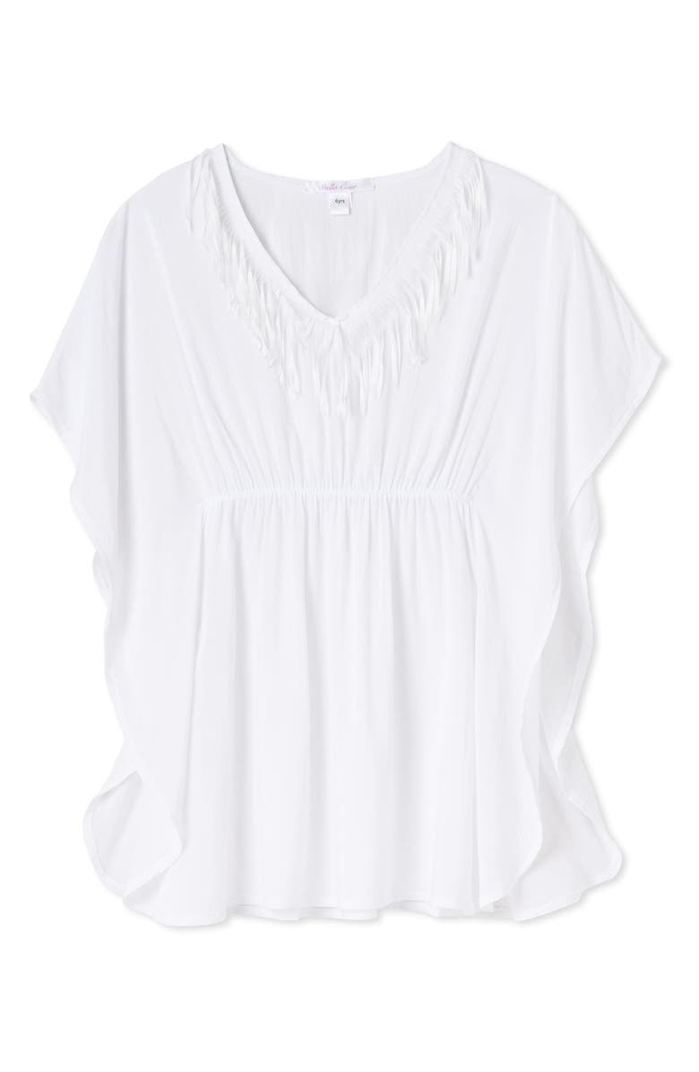 STELLA COVE White Fringe Cover-Up Poncho, Main, color, WHITE