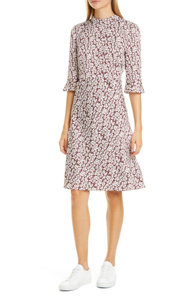 Floral Print Silk Dress by Nordstrom Signature