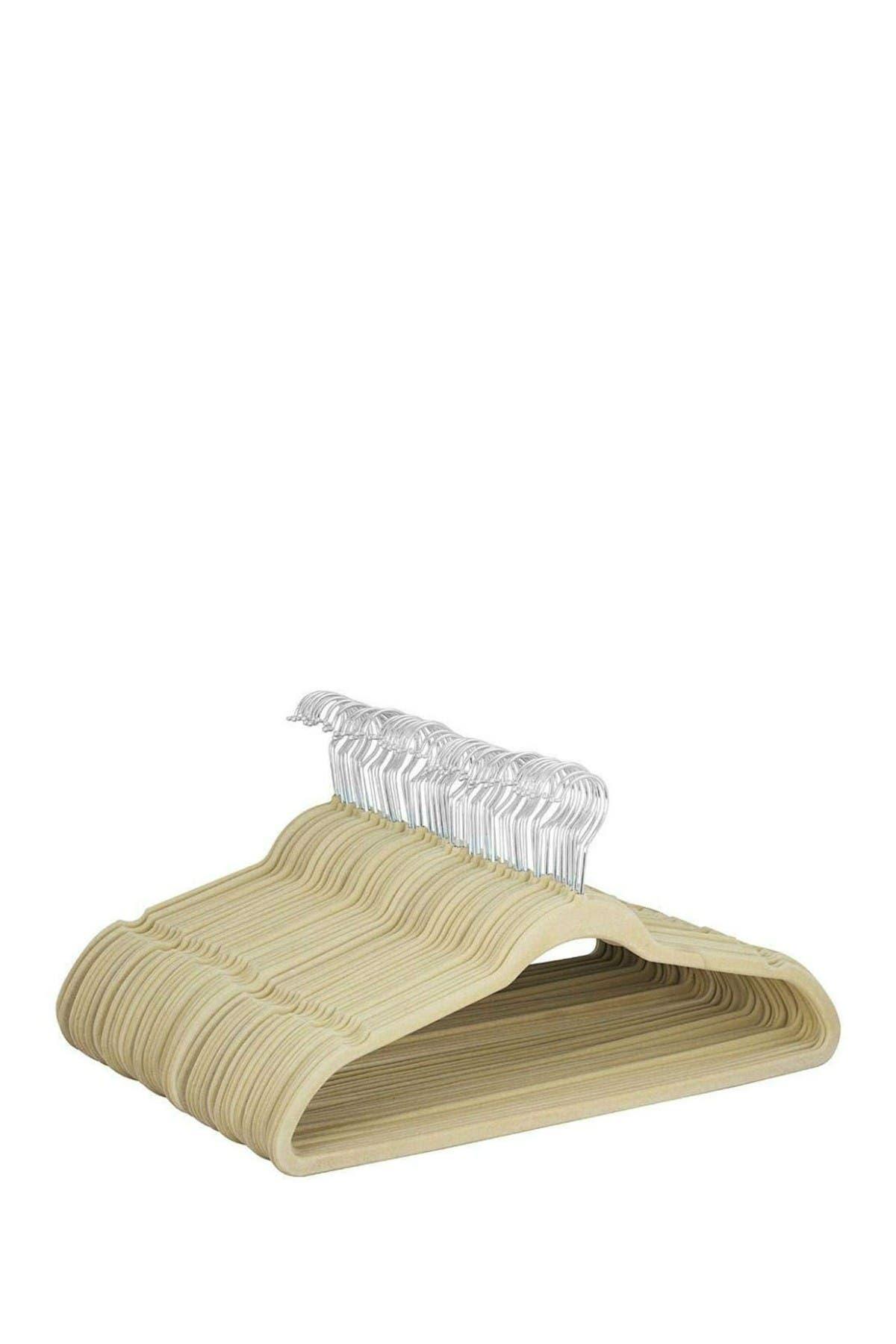 Image of Glomery Ivory Glomery Velvet Hangers Non Slip- Heavy Duty - Pack of 25