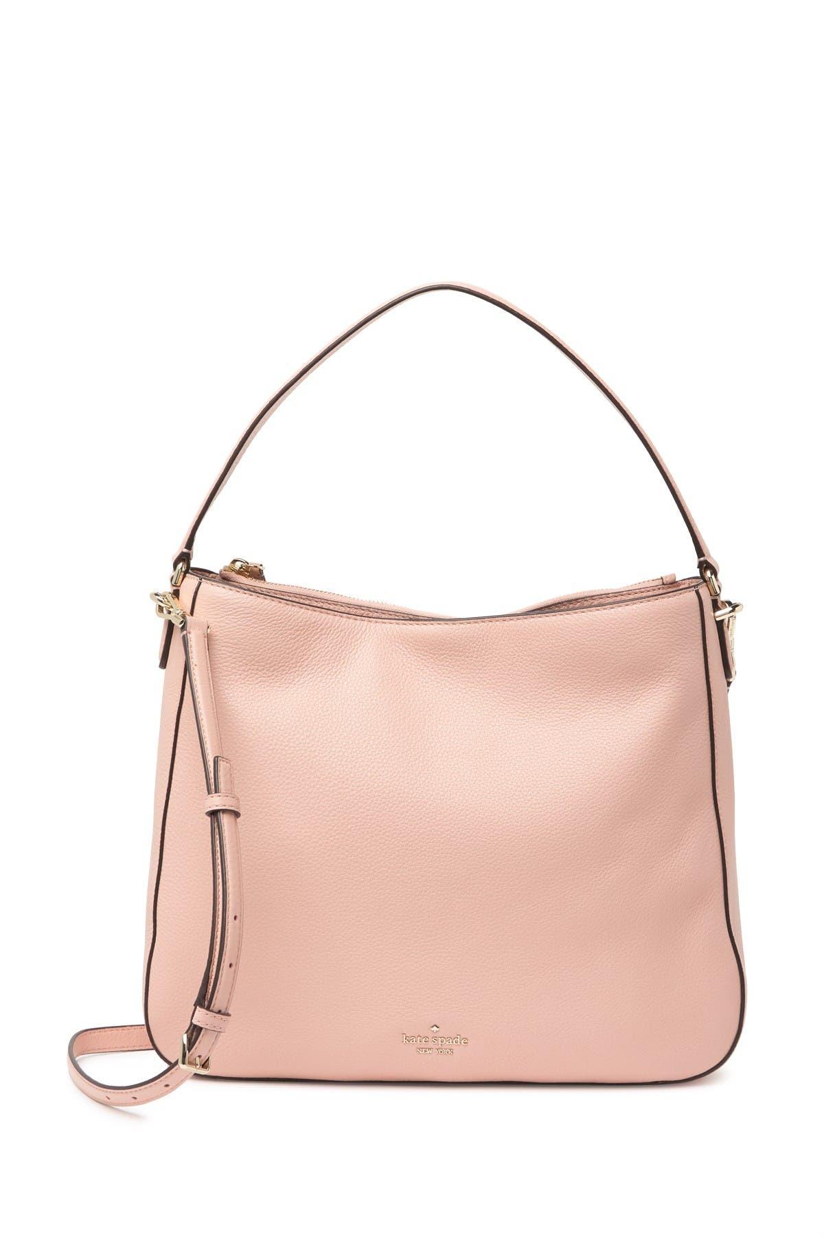 Image of kate spade new york jackson leather medium shoulder bag