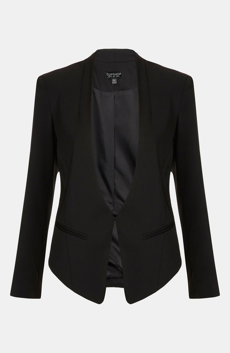 TOPSHOP Angled Blazer, Main, color, 001
