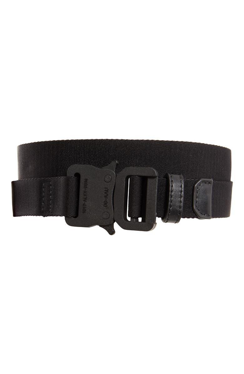 1017 ALYX 9SM Nylon Web Belt, Main, color, BLACK