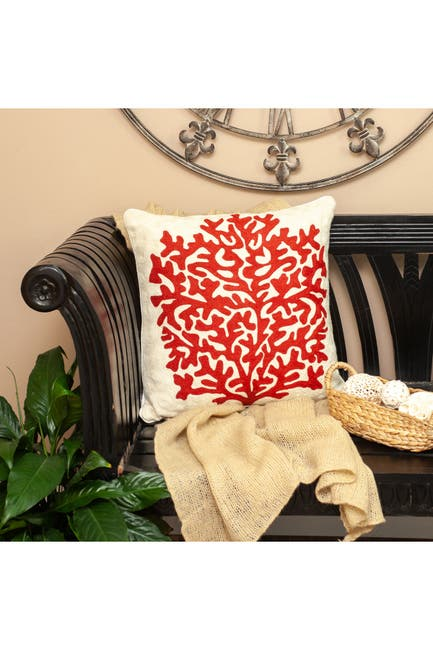 Image of Parkland Collection Canna Beige Throw Pillow