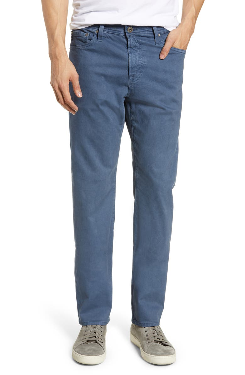 AG Everett SUD Slim Straight Fit Pants, Main, color, SODA LIGHT BLUE
