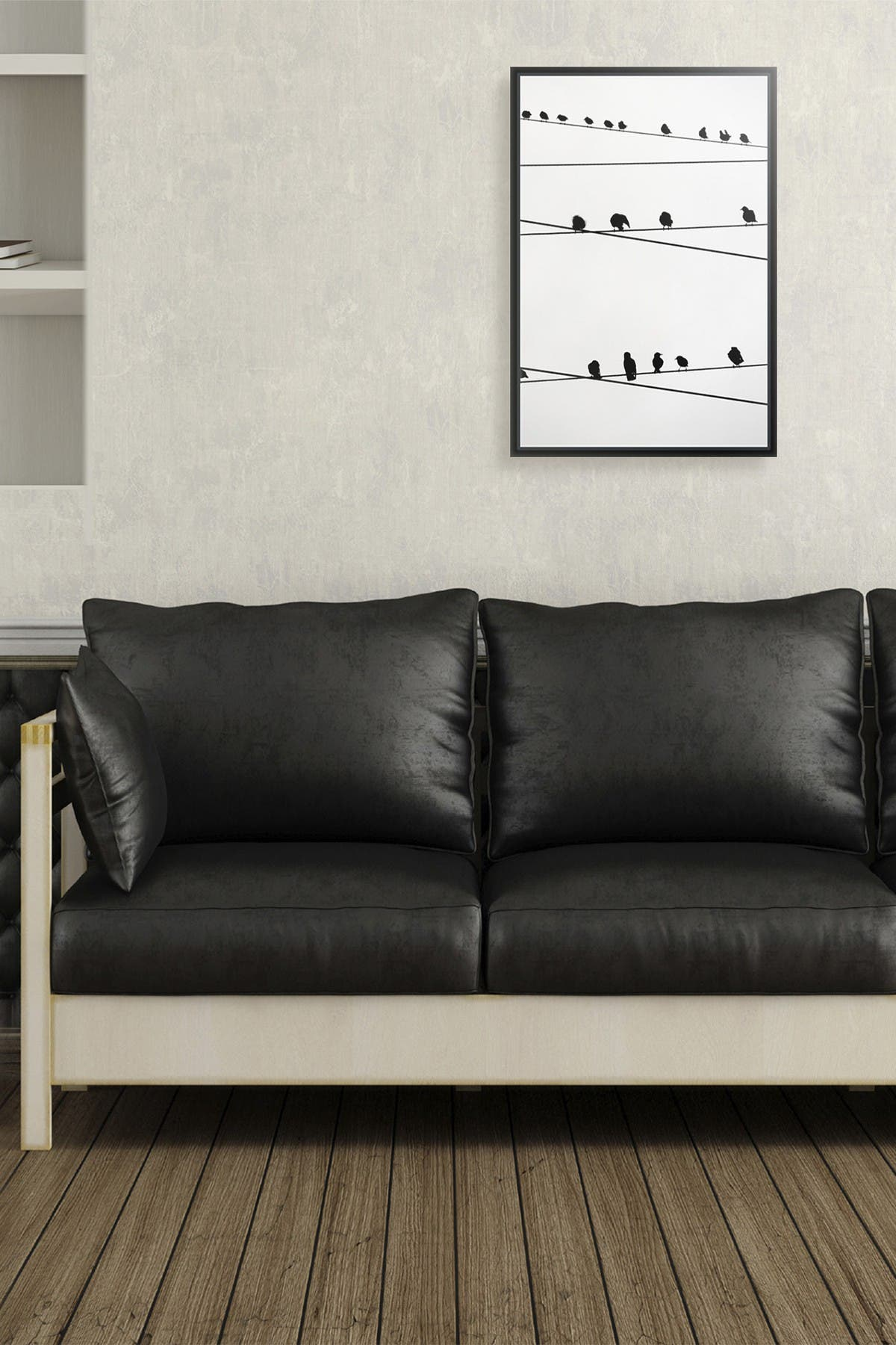 Image of PTM Images Medium Birds on wire Canvas Wall Art