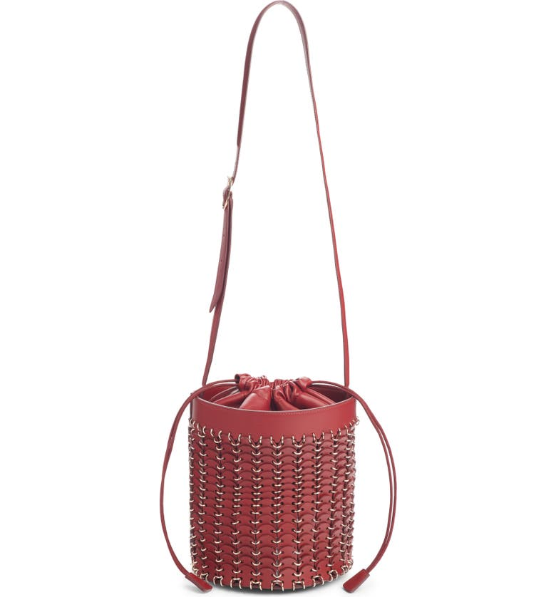 Paco Rabanne Iconic Leather Bucket Bag