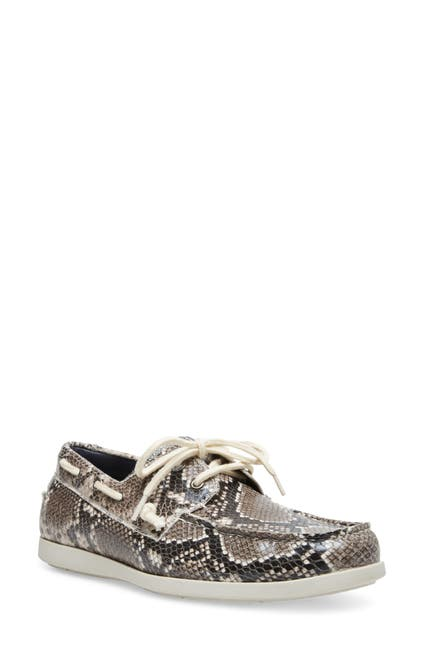 Image of Steve Madden Game Snake Embossed Leather Boat Shoe