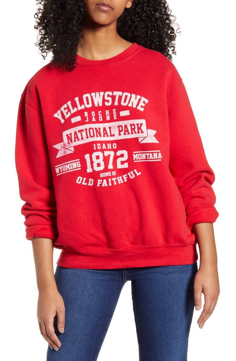 NEEMA CALIFORNIA Zane Yellowstone Graphic Sweatshirt, Main, color, KETCHUP