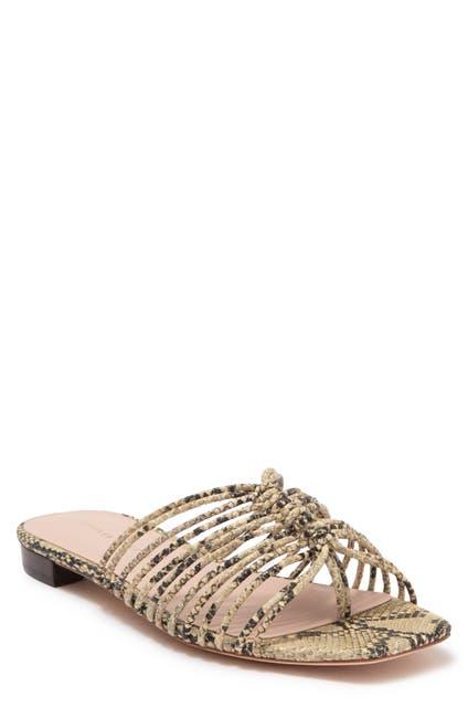 Image of LOEFFLER RANDALL Amana Strapy Snake Print Leather Sandal