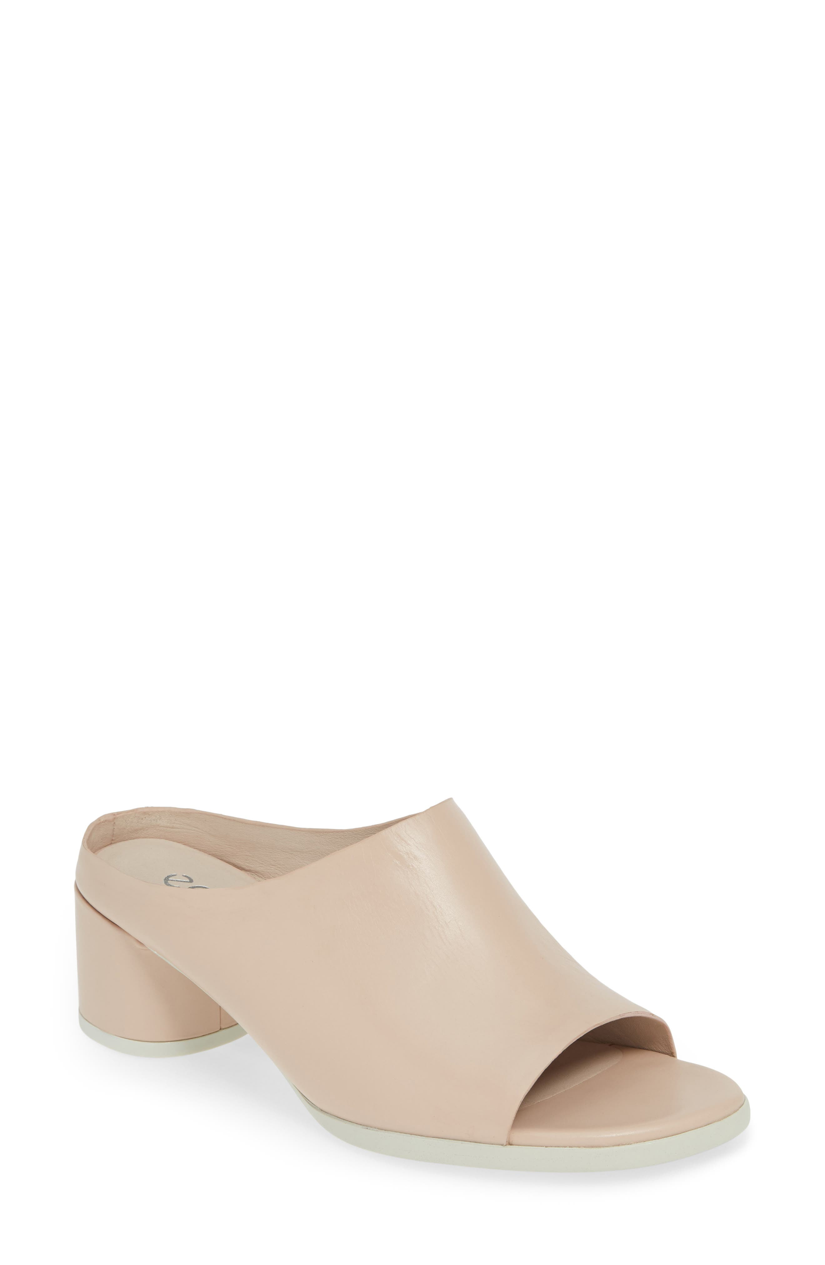 UPC 825840000535 product image for Women's Ecco Shape 45 Block Heel Slide Sandal, Size 5-5.5US / 36EU - Pink | upcitemdb.com