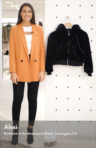 Faux Fur Hooded Jacket, sales video thumbnail