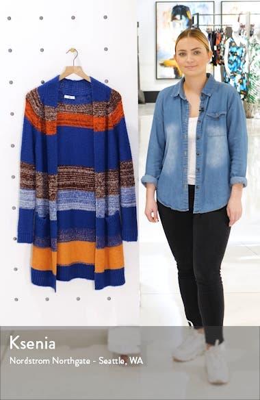 Bold Stripe Longline Cardigan, sales video thumbnail
