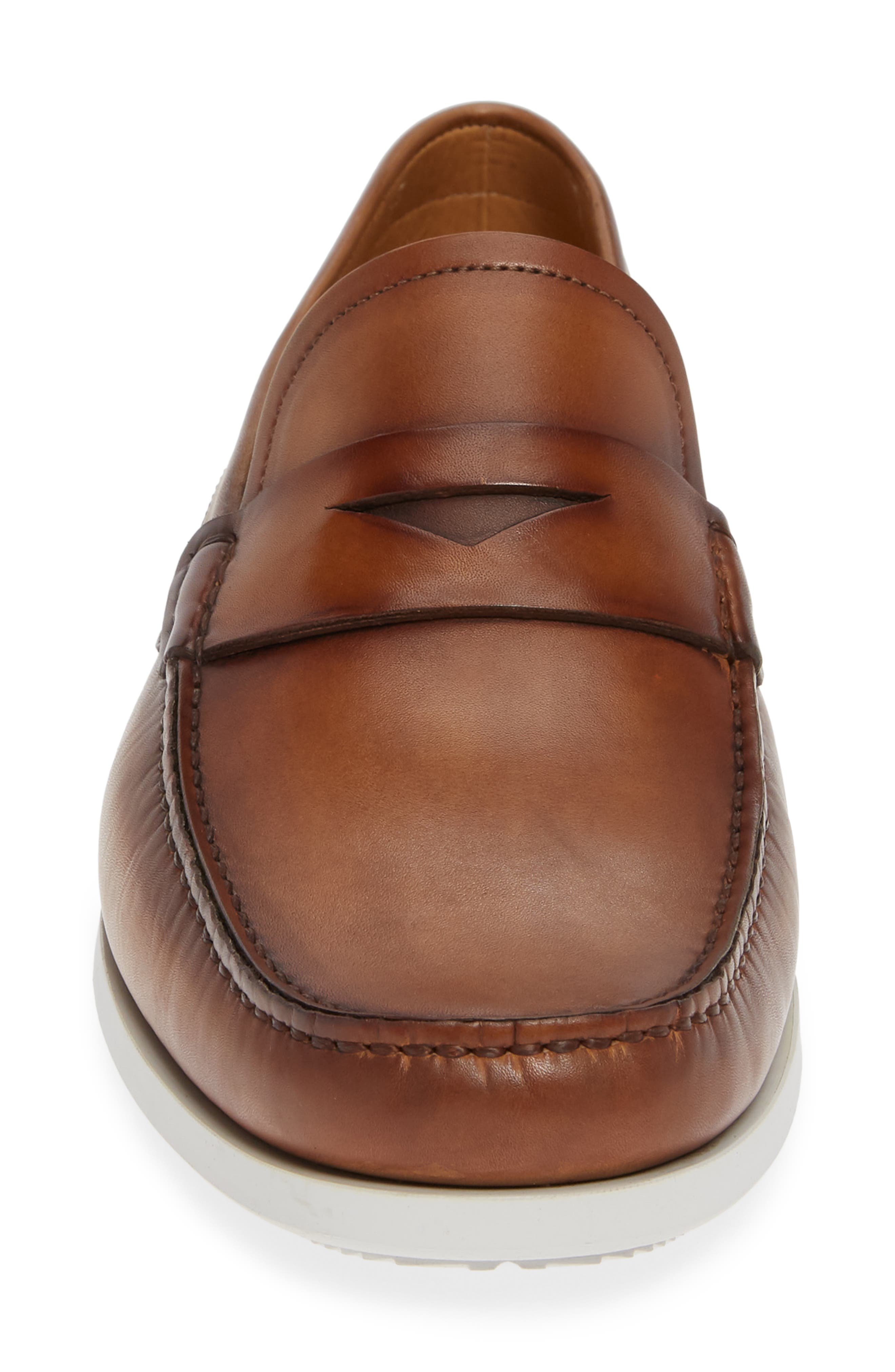 ,                             Laguna Penny Loafer,                             Alternate thumbnail 4, color,                             TOBACCO LEATHER