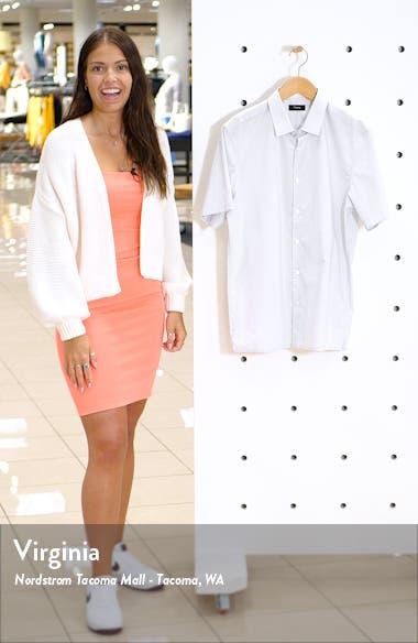 Murrary Slim Fit Mini Dot Short Sleeve Button-Up Shirt, sales video thumbnail