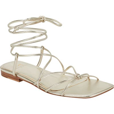 Marc Fisher Ltd Marina Lace-Up Sandal, Metallic