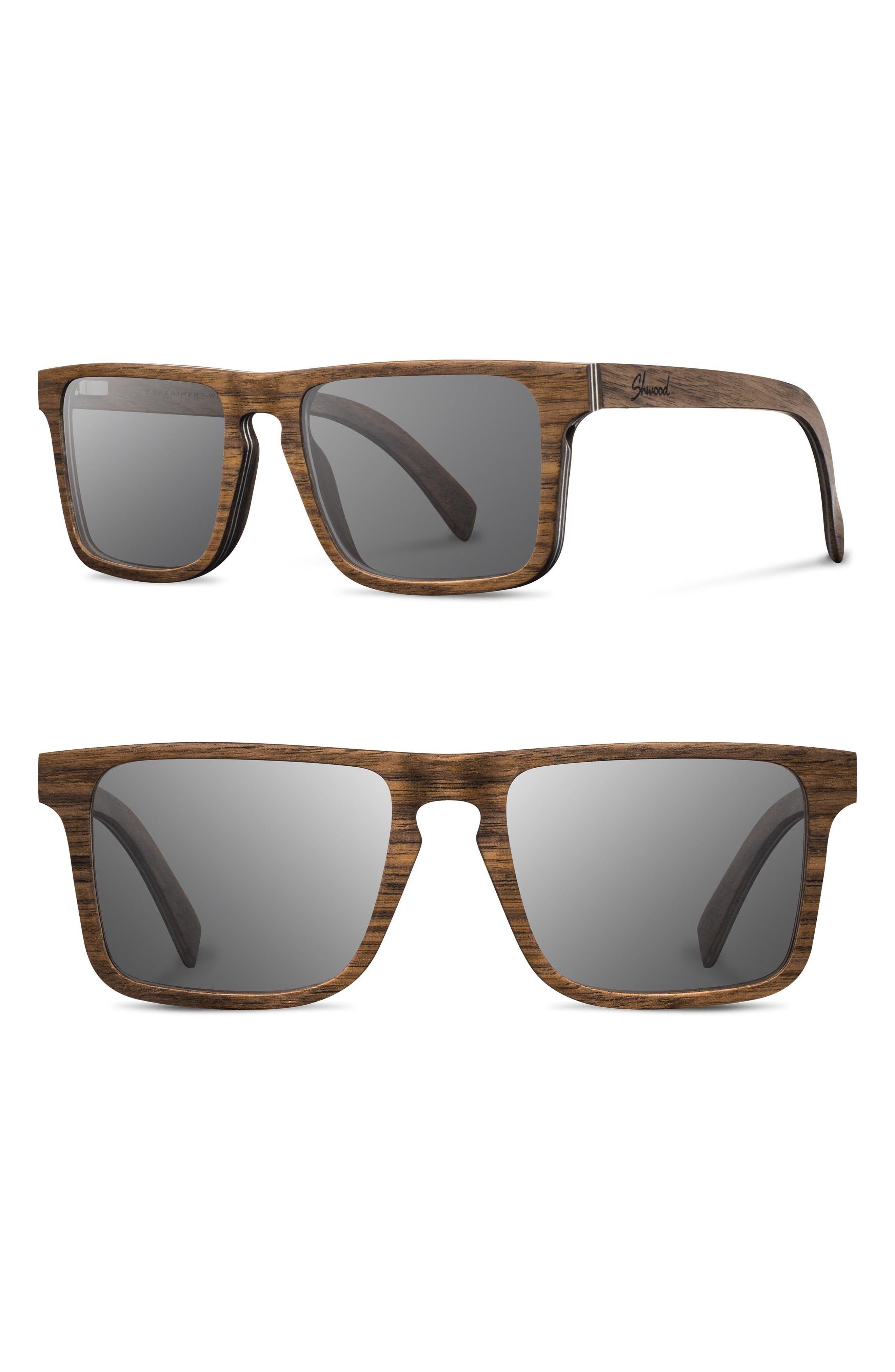 Govy 2 52mm Polarized Wood Sunglasses, Main, color, 210