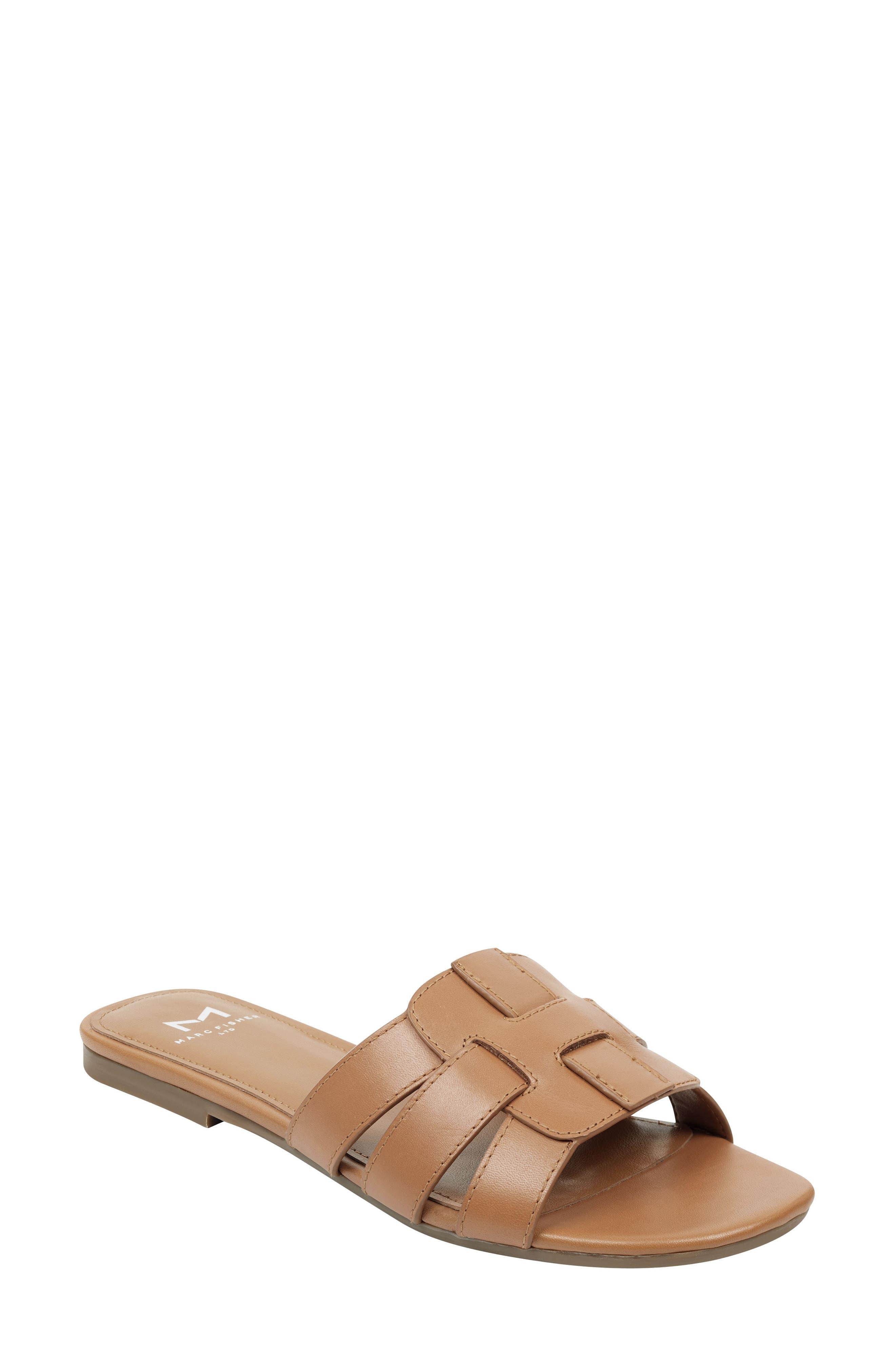 Marc Fisher Ltd Kayli Slide Sandal, Brown