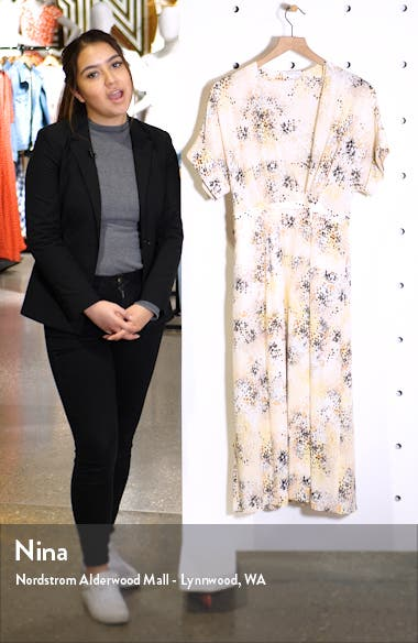 Tavine Silk Midi Dress, sales video thumbnail