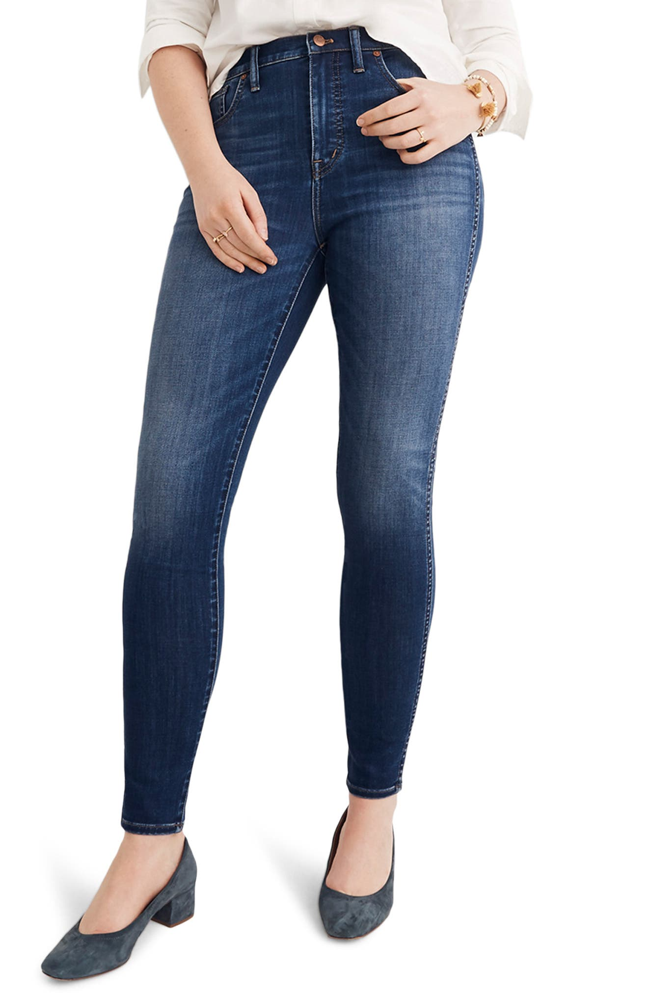 10-Inch High Rise Skinny Jeans