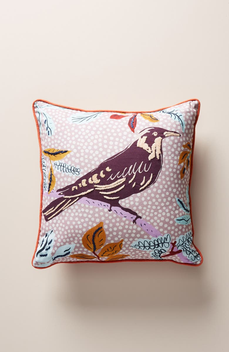 ANTHROPOLOGIE Kirby Accent Pillow, Main, color, PINK