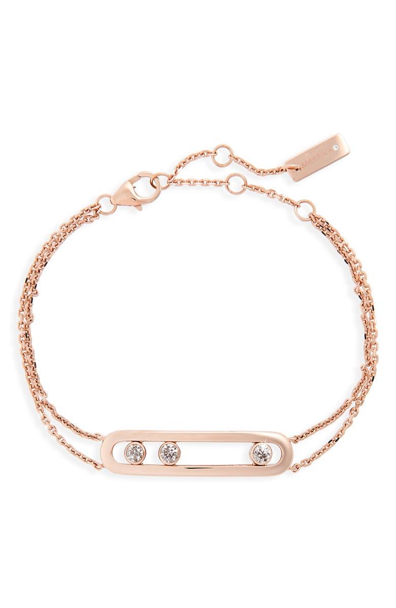 MESSIKA Two-Strand Move Diamond Bracelet, Main, color, ROSE GOLD