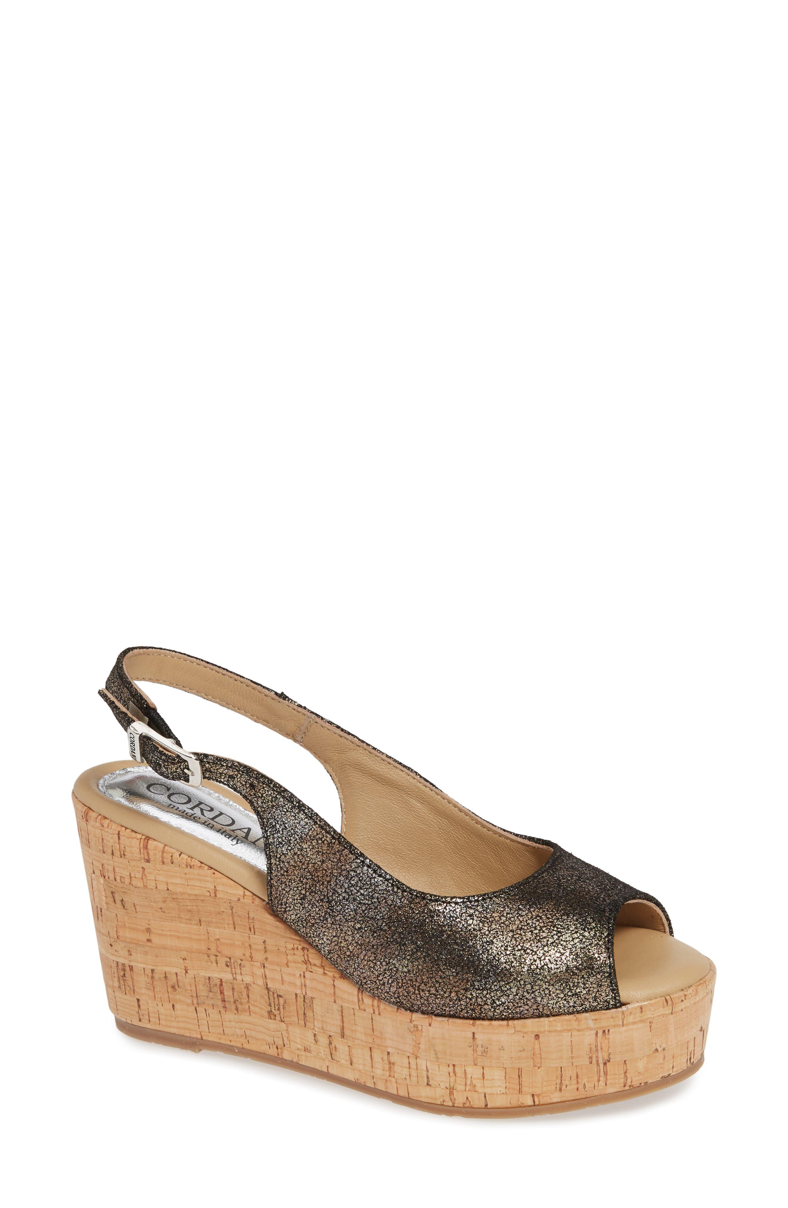 Cordani Janey Wedge Sandal - Metallic
