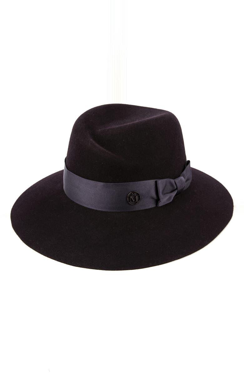 MAISON MICHEL Virginie Fur Felt Hat, Main, color, DARK PURPLE