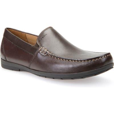 Geox Simon W2 Venetian Loafer, Brown
