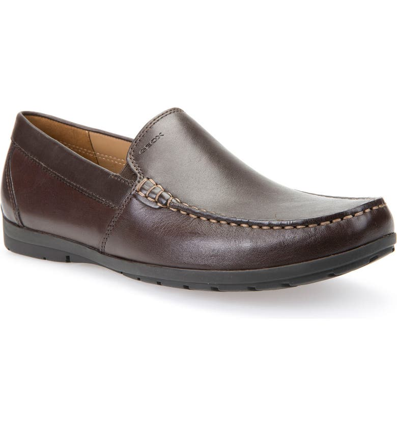 GEOX Simon W2 Venetian Loafer, Main, color, BROWN LEATHER