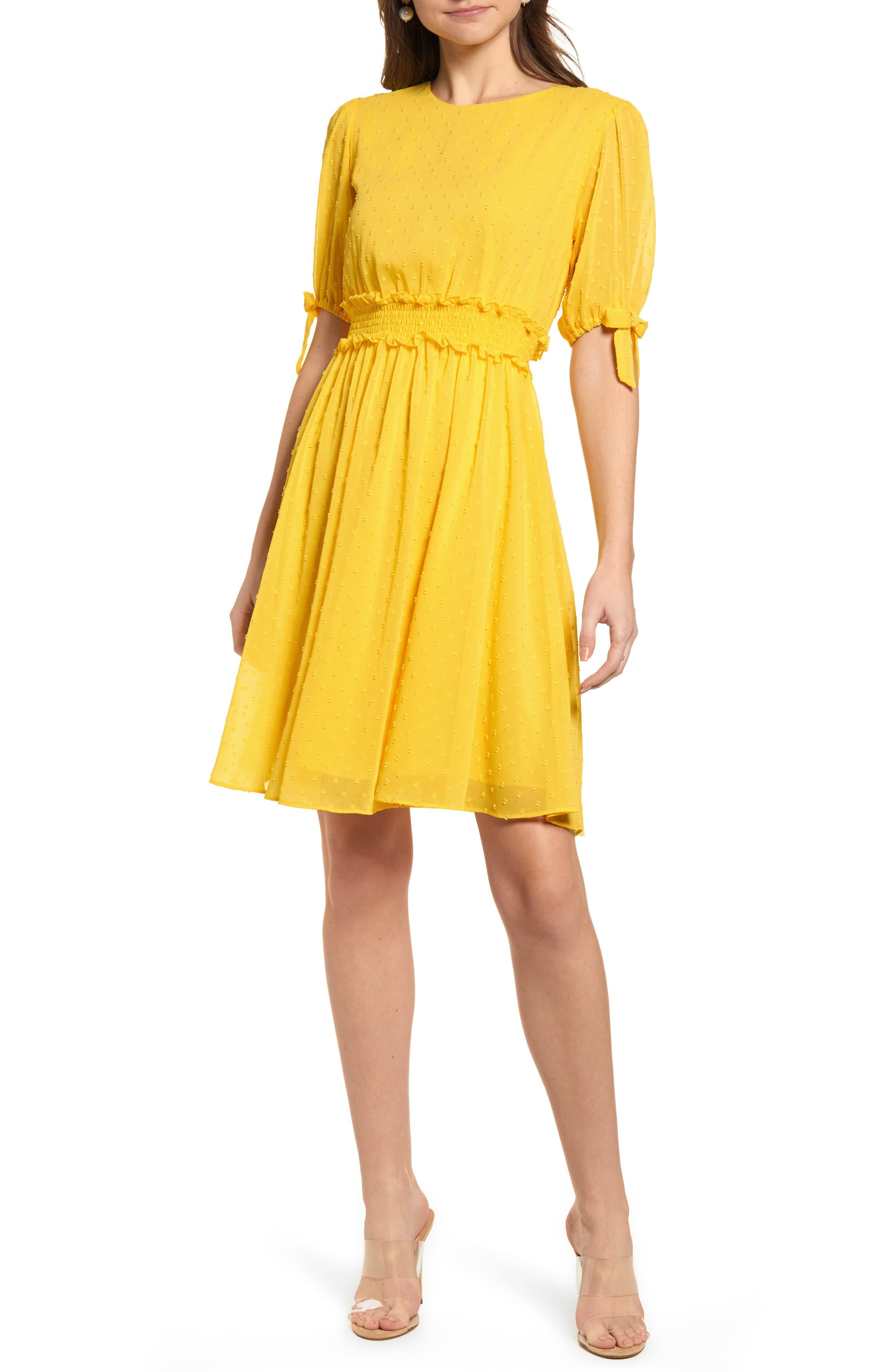 Smocked Waist Dress, Main, color, 720