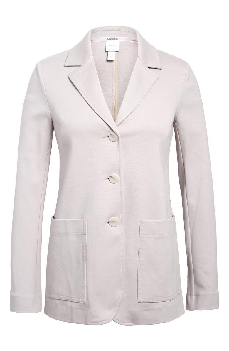 MAX MARA LEISURE Ascona Stretch Cotton Knit Jacket, Main, color, 037
