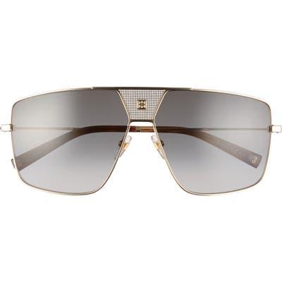 Givenchy 6m Oversize Aviator Sunglasses - Gold/ Dark Grey