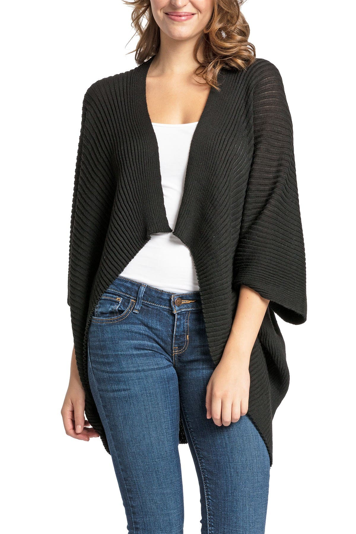 Image of SAVE THE OCEAN Ribbed Recycled Knit Kimono