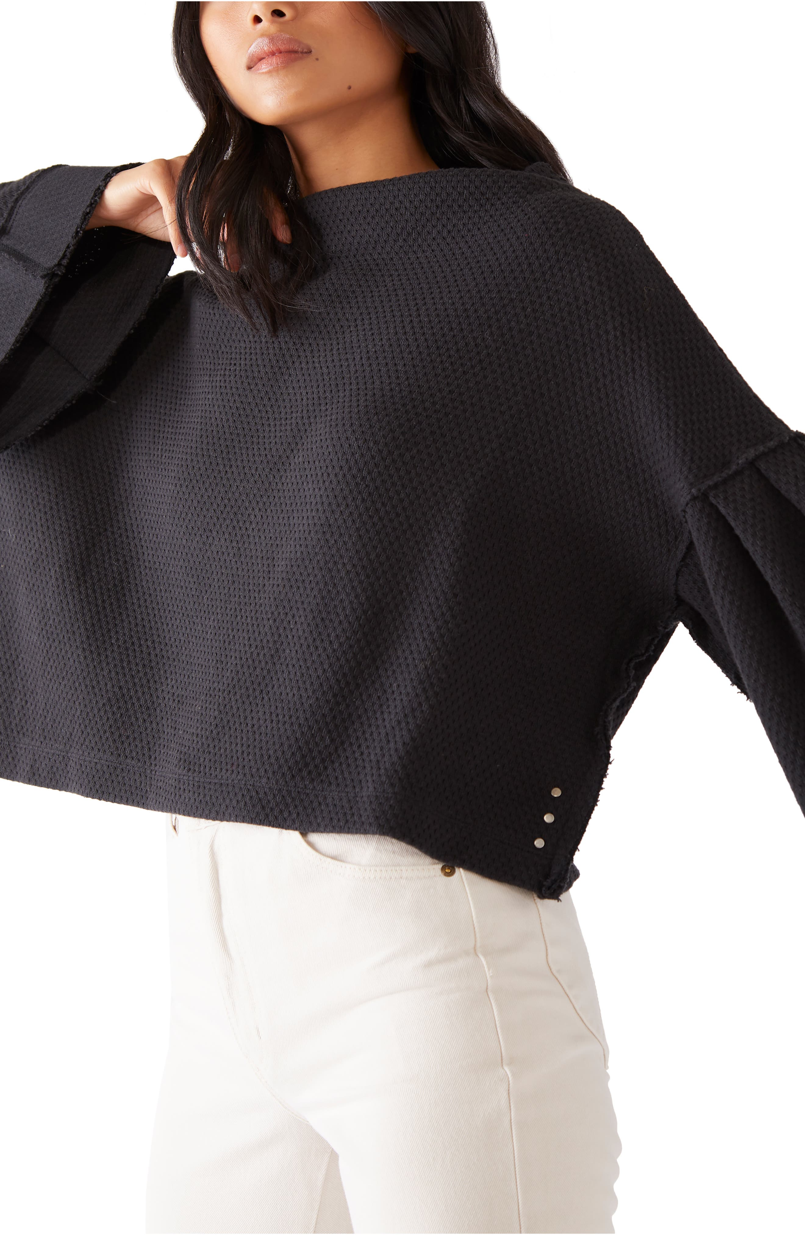 Image of Free People Bunny Funnel Neck Top