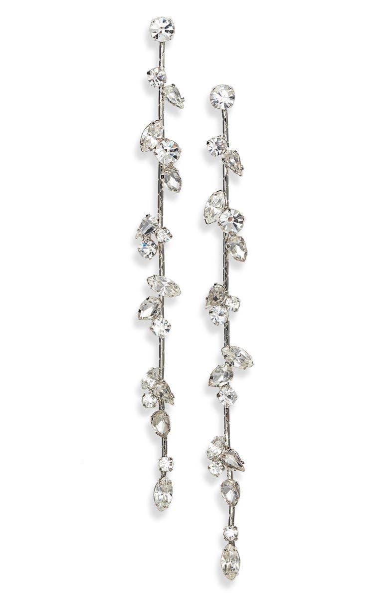 CRISTABELLE Crystal Linear Drop Earrings, Main, color, 040