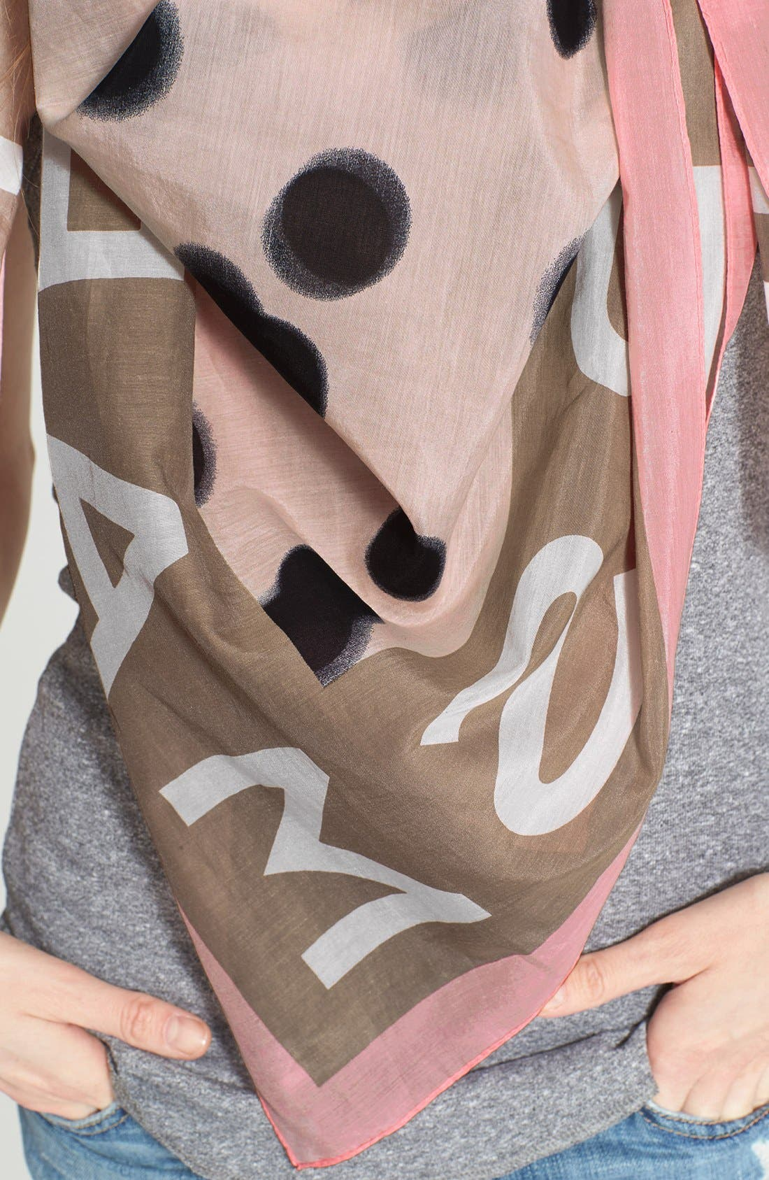 ,                             MARC BY MARC JACOBS 'Blurred Dot' Cotton & Silk Square Scarf,                             Alternate thumbnail 5, color,                             650