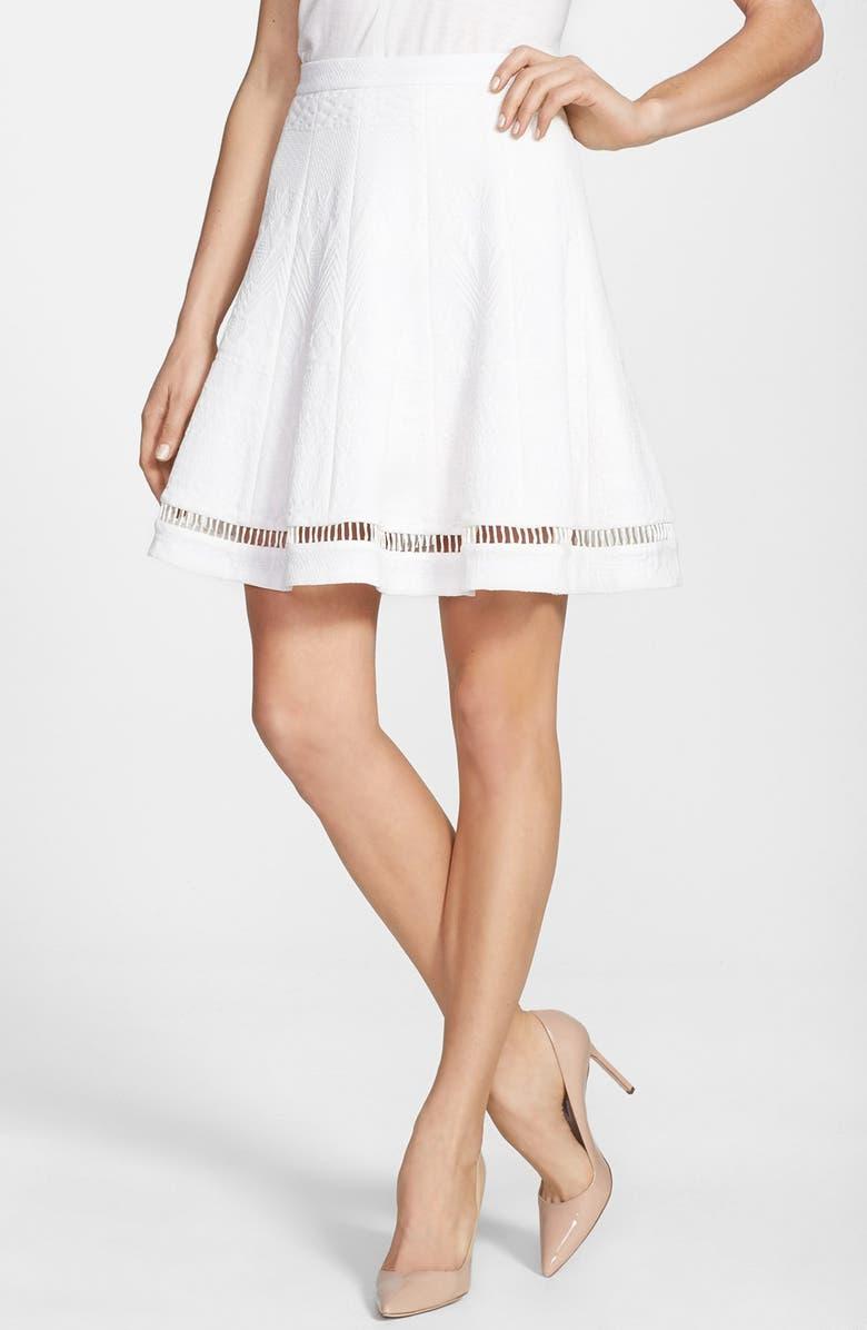 REBECCA TAYLOR 'Flip' Jacquard Skirt, Main, color, 100
