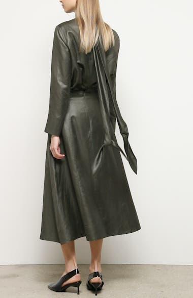 Everly Coated Linen Blend Midi Skirt, video thumbnail