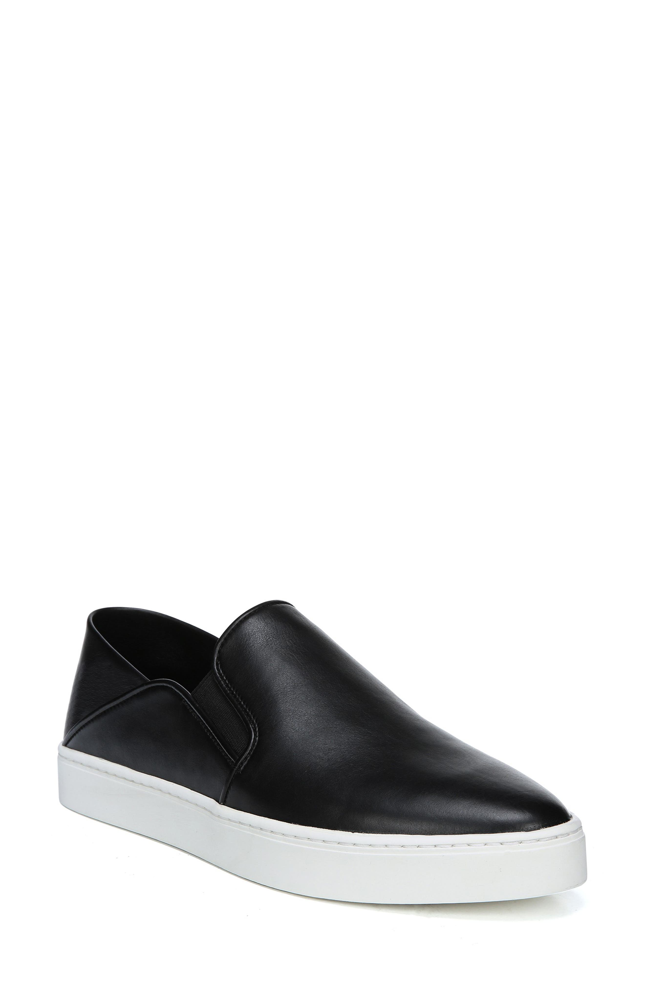 Garvey Slip-On Sneaker, Main, color, BLACK LEATHER