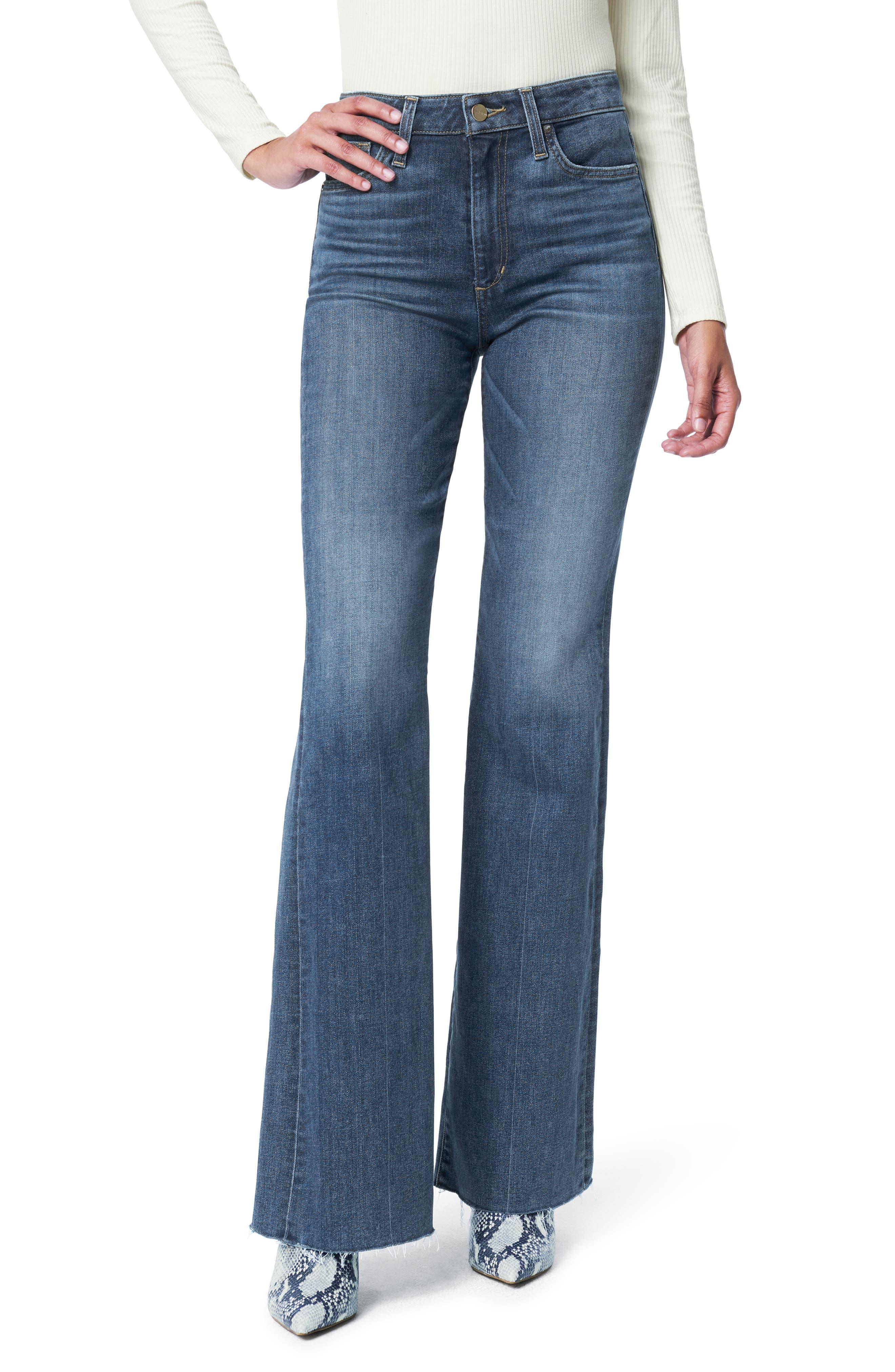 Women's Joe's Flawless The Molly High Waist Cut Hem Flare Jeans,  28 - Blue